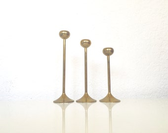Trio of Mid Century Candlesticks