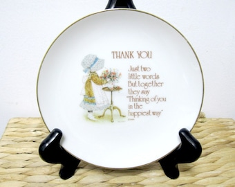 Vintage 1975 HOLLY HOBBIE Thank You Porcelain Collectors Plate