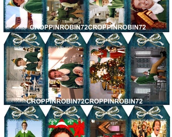 Christmas The Elf Movie (126) Scrapbook Card Embellishments Hang Gift Tags