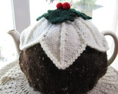 Teacosy, Christmas Pudding, large, hand knitted