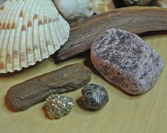 Healing Crystals and Stones // Set of 4 Healing Crystals // Wicca Crystals // Metaphysical Tools // Altar Stones // Crystals and Rocks