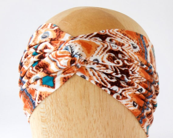 Boho Chic Tribal Print Turban Headband Women Ear Warmer Head Wrap Hair Wrap Gift For Her Ear Band Hair Band- Turband Soft Headband Headscarf