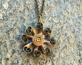 Steampunk Flower made from bullet casing