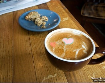 LOONEY BEAN HEARTS, Wedding Espresso Latte, Clyde Keller photo, 2016, Fine Art Print, Color, Signed