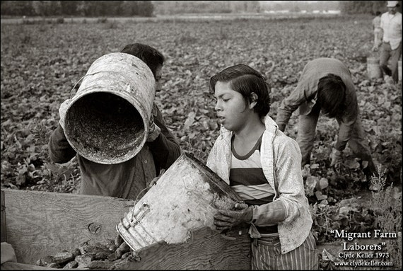 MIGRANT FARM LABORERS, Dykes Camp, Clyde Keller photo, 1973, Fine Art Print, Black and White, Signed