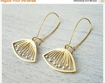 Sale 20% OFF Sif Earrings, floral pendant, Scandinavian design jewelry