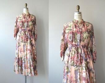 Soft Parade dress | vintage 1970s dress | floral print 70s dress