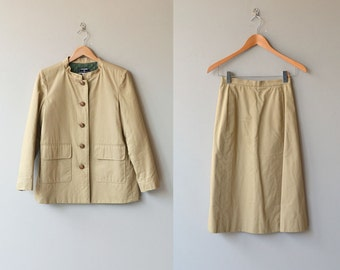 Chanel suit | vintage quilted jacket and skirt | vintage Chanel jacket
