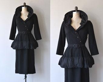 Claire Pearone dress | vintage 1950s dress | black 50s dress