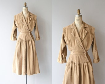 Solvay corduroy dress | vintage 1970s corduroy dress | 70s wrap dress