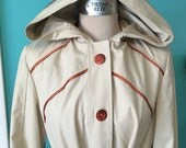 The Shirley Feeney - 1970's Princess Seamed Hooded Trench Coat