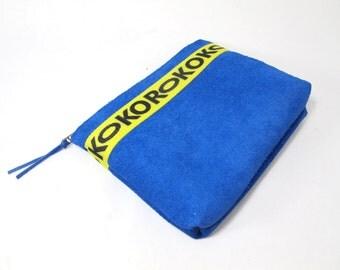 Electric Blue Kokorokoko x Eye of the Sun Suede Pouch