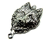 Wolf Pendant Amulet Antiqued Pewter Wolf Totem Charm cast in fine genuine pewter charm