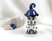 Reserved for Nancy - Blueberry romantic tower  -- Hand Made Ceramic Eco-Friendly Home Decor by studio Vishnya