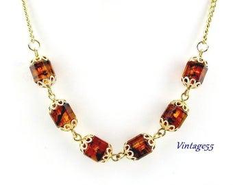 """Necklace Golden Lanterns 22"""""""