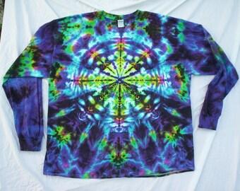 Tie Dye Kaleidoscope Long Sleeve Choose Size S - 5X