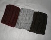 Womens Crochet Boot Cuffs, Teen Boot Cuffs, Faux Leg Warmers, Boot Cuffs