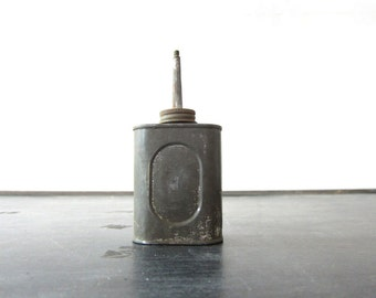 Vintage Metal industrial oil can distressed great for display rustic decor Barn Home Decor