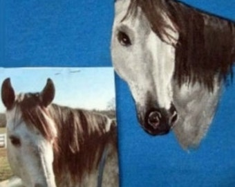 Custom hand painted Tee shirt of your horse