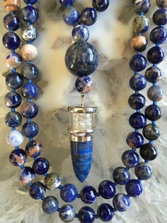Sodalite and Lapis Lazuli Mala/Prayer Beads