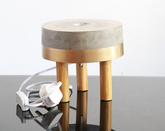 Concrete Lamp Etsy Uk