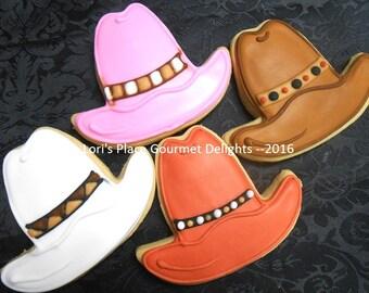 Cowboy Hat Cookies - 12 Cookies