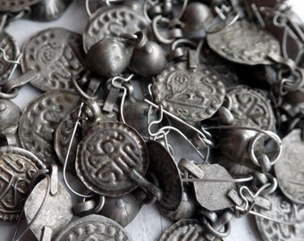 Vintage Coins - Earrings - Dangles - Middle Eastern Style