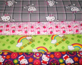 HELLO KITTY #3  Fabrics, Sold INDIVIDUALLY not as a group, by the Half Yard