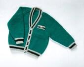 "Boys ""50's guy"" Cardigan. Hand Knit Cardigan. Hand Knit Childrenswear."