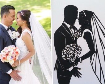 Custom Silhouette Wedding Portrait
