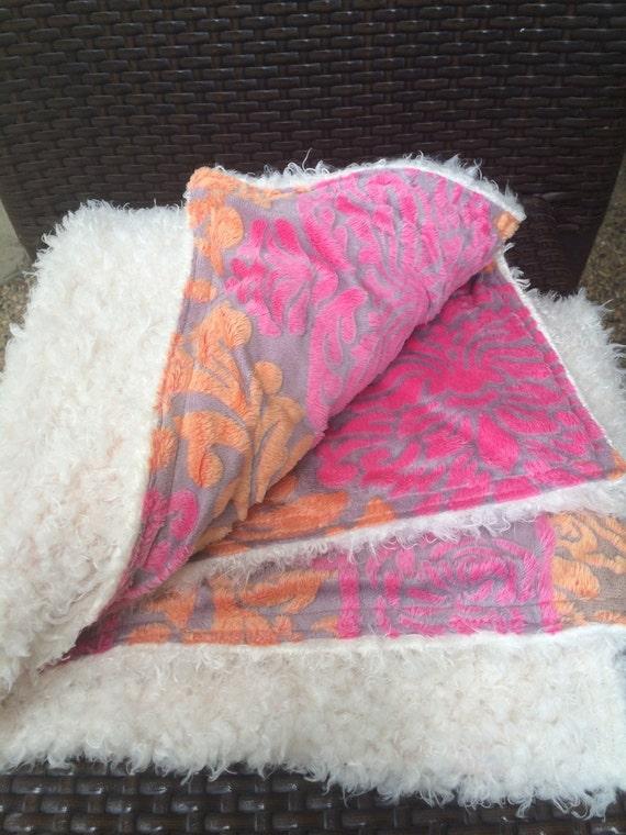 Fluffy White Baby blanket