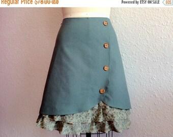 SALE Sophie linen ruffle front skirt Sz 14