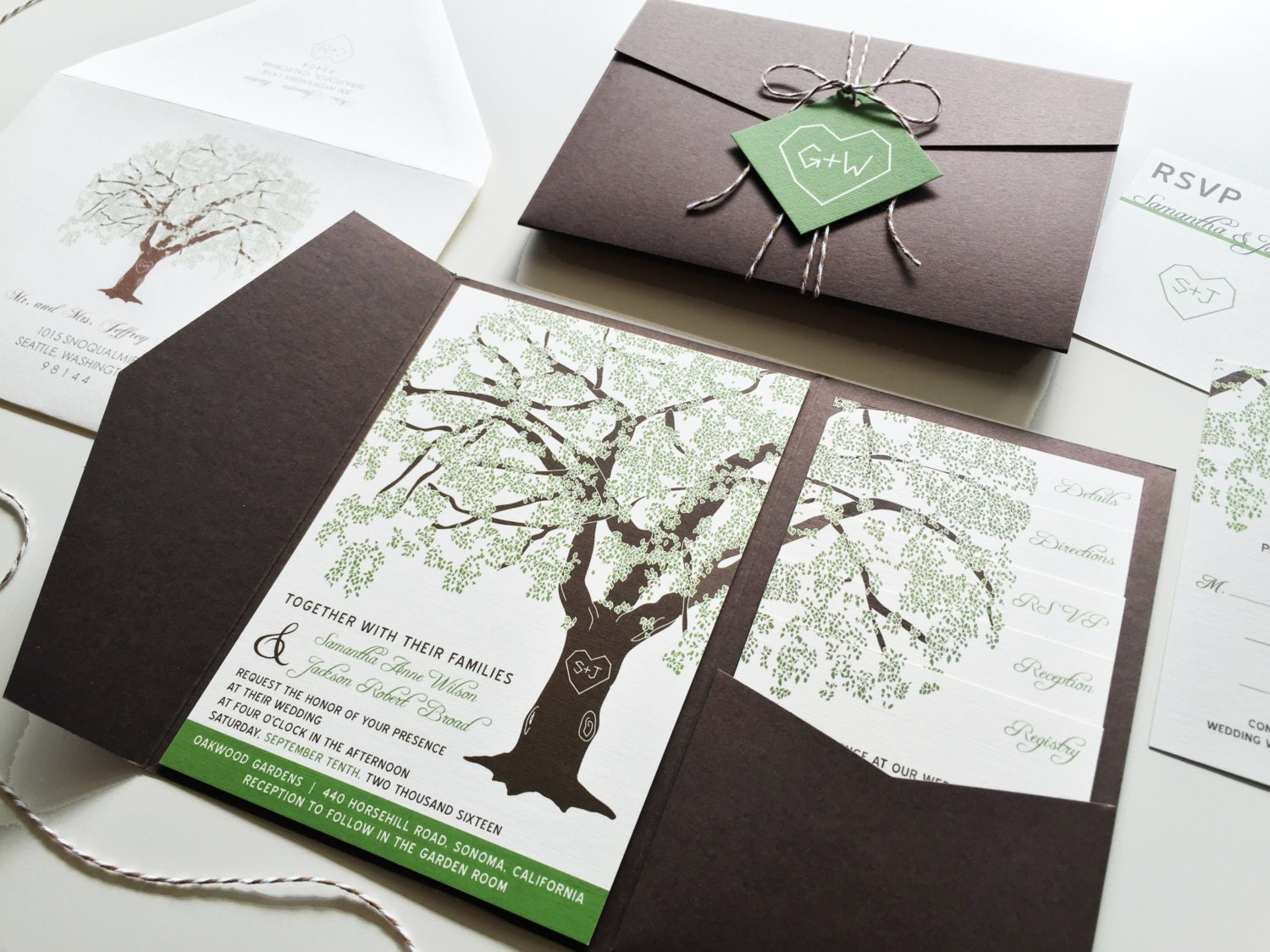 Free Samples Wedding Invitations: Sample Oak Tree Wedding Invitation Rustic Wedding Invitation