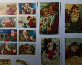 Christmas in July - Vintage Look Christmas Holiday Stickers - Scrapbook Supplies