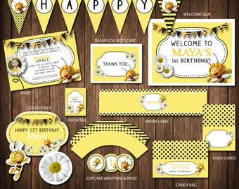 Maya the Bee Birthday Invite Printable Party Items