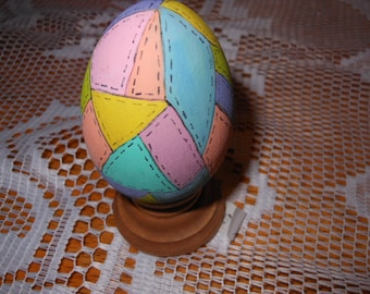 Hand Painted Wooden Egg Quilt Pattern
