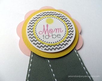 Sunshine Baby Shower Decorations, Baby Shower Decorations, Baby Shower Décor, Chevron Baby Shower Mom To Be PIN, Choose The Colors