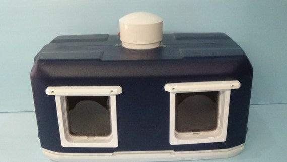 XLG Cat Pod/Deluxe Heat, Outdoor Cat House, small doghouse,shelter,bed,condo