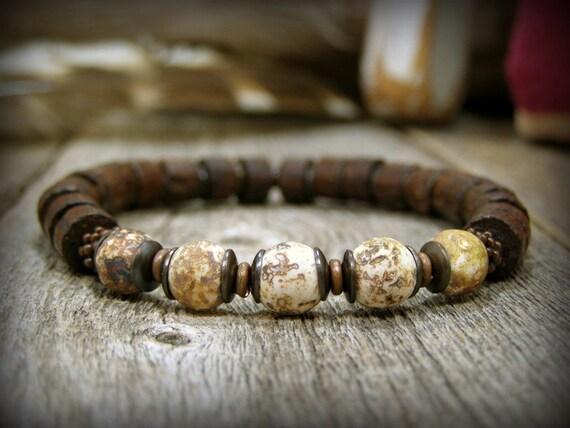 items similar to bracelet for men wood and gemstone. Black Bedroom Furniture Sets. Home Design Ideas