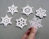 Custom Listing -- 9 assorted snowflakes