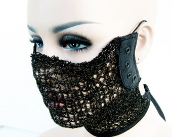 unisex face mask, transhuman, dust mask, club wear, face mask, play wear: Renegade Icon Designs