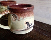 Howlin Wolf Mug - Cactus Mug - Howling at the Moon - Desert Wolf - Desert Dreaming - Coyote - Cactus - Tea Cup - Coffee Mug