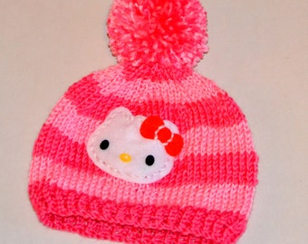 Hello Kitty Hat/ Crochet Hello Kitty hat/ Crochet hat