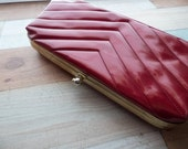 Vintage Shiny Red Patent Clutch