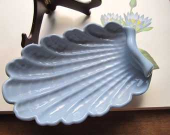 Vintage Pottery * USA Abingdon Pottery Serve Bowl * Sea Shell Design Pottery * 1940's Pottery
