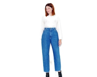 HURRY HALF OFF vintage high waisted jeans Lee Jeans large xl / mom jeans ripped jeans distressed jeans boyfriend jeans cropped jeans