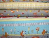 YARD Bundle - 5% OFF! Fox Playground, Dena Designs, Free Spirit, Designer Cotton Quilt Fabric, Quilting Fabric