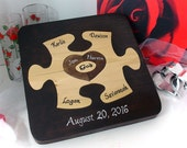 Custom Designed Unity Ceremony Wedding Puzzle Blended Family Wedding Gift For The Couple Personalized Heirloom Family Puzzle Christmas Gift