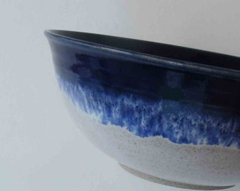 ONE Soup or Cereal Bowl, Nautical Blue with Speckled White, Stacking Bowls, 2 Cups, Bowls, Kitchen, Bowls and Serving, General Purpose Bowls