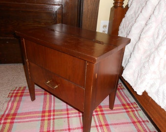Vintage shoe shine small table cabinet Free shipping